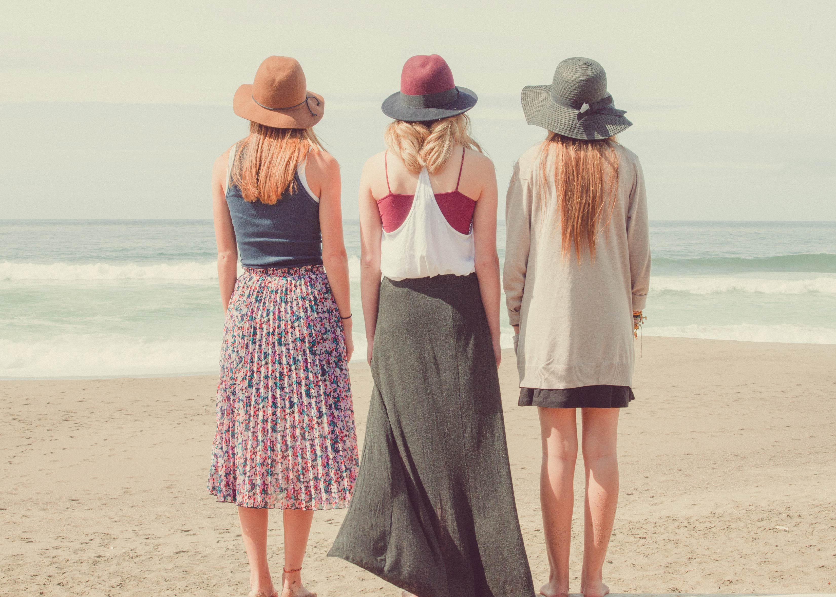 Group of friends on a beach