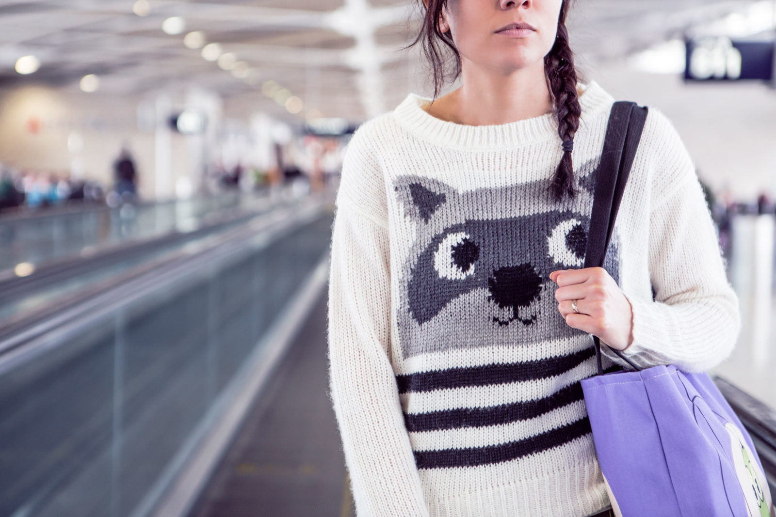 Woman at an airport