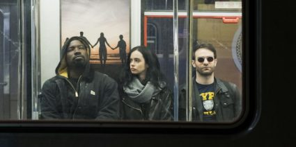 Subway scene from The Defenders