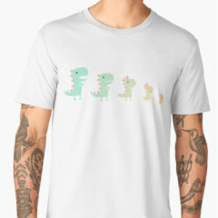 Evolution of a Chicken t-shirt on Redbubble