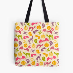Neon Halloween Tote Bag by Redbubble