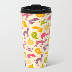 Neon Halloween Travel Mug by Redbubble