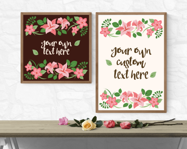 Pink Lilly Typography Poster