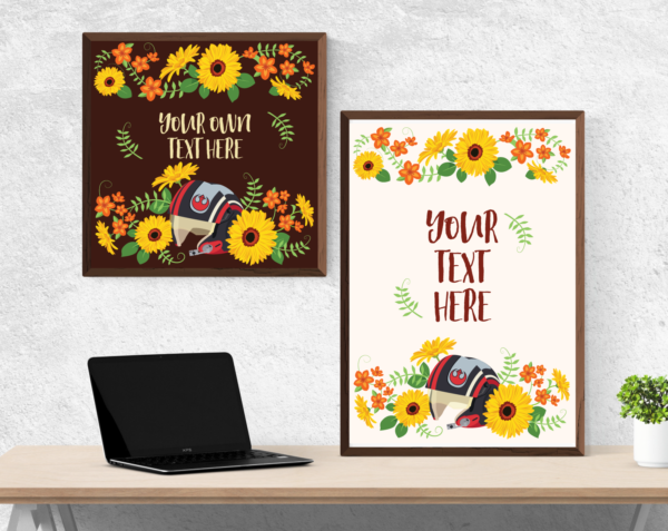 Rebel Sunflowers Typography Poster