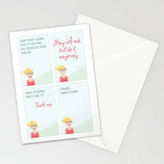 Thanks Carrie Stationary Cards on Society6