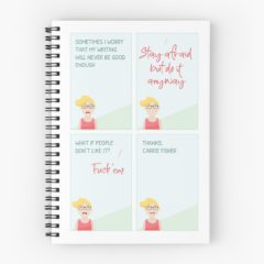 Thanks Carrie Spiral Notebook on Redbubble