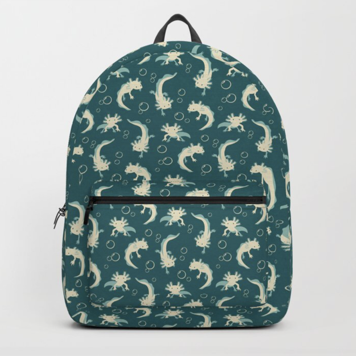 Relaxolotl teal backpack