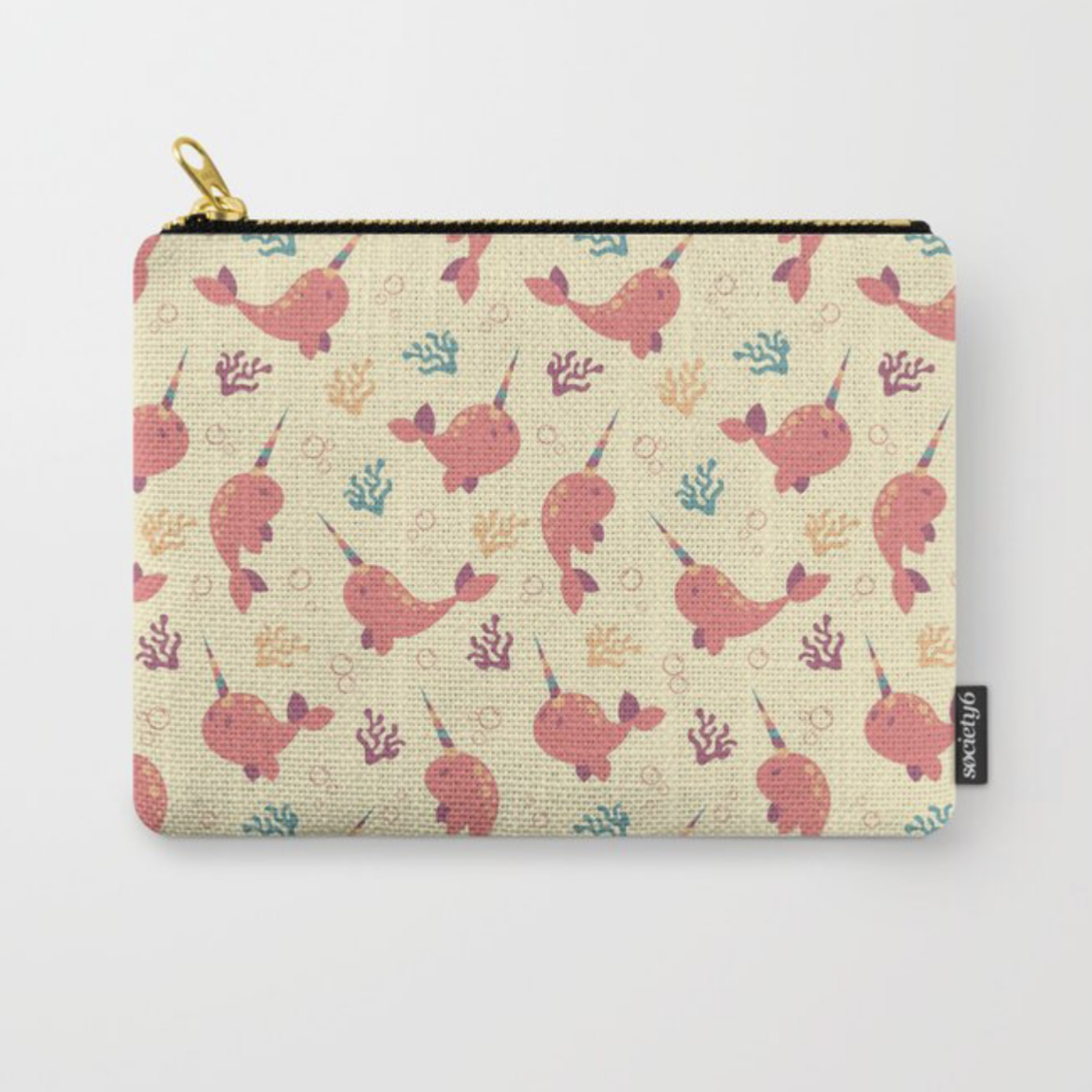 To the Window to the Narwhal carry all pouch from Society6