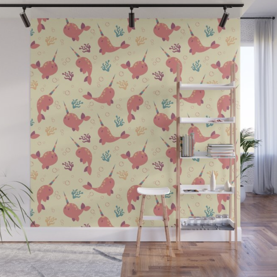 To the Window to the Narwhal wall mural from Society6