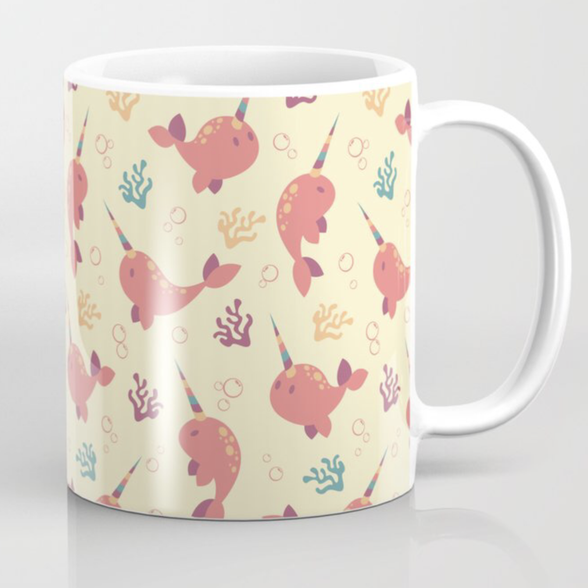 To the Window to the Narwhal coffee mug from Society6