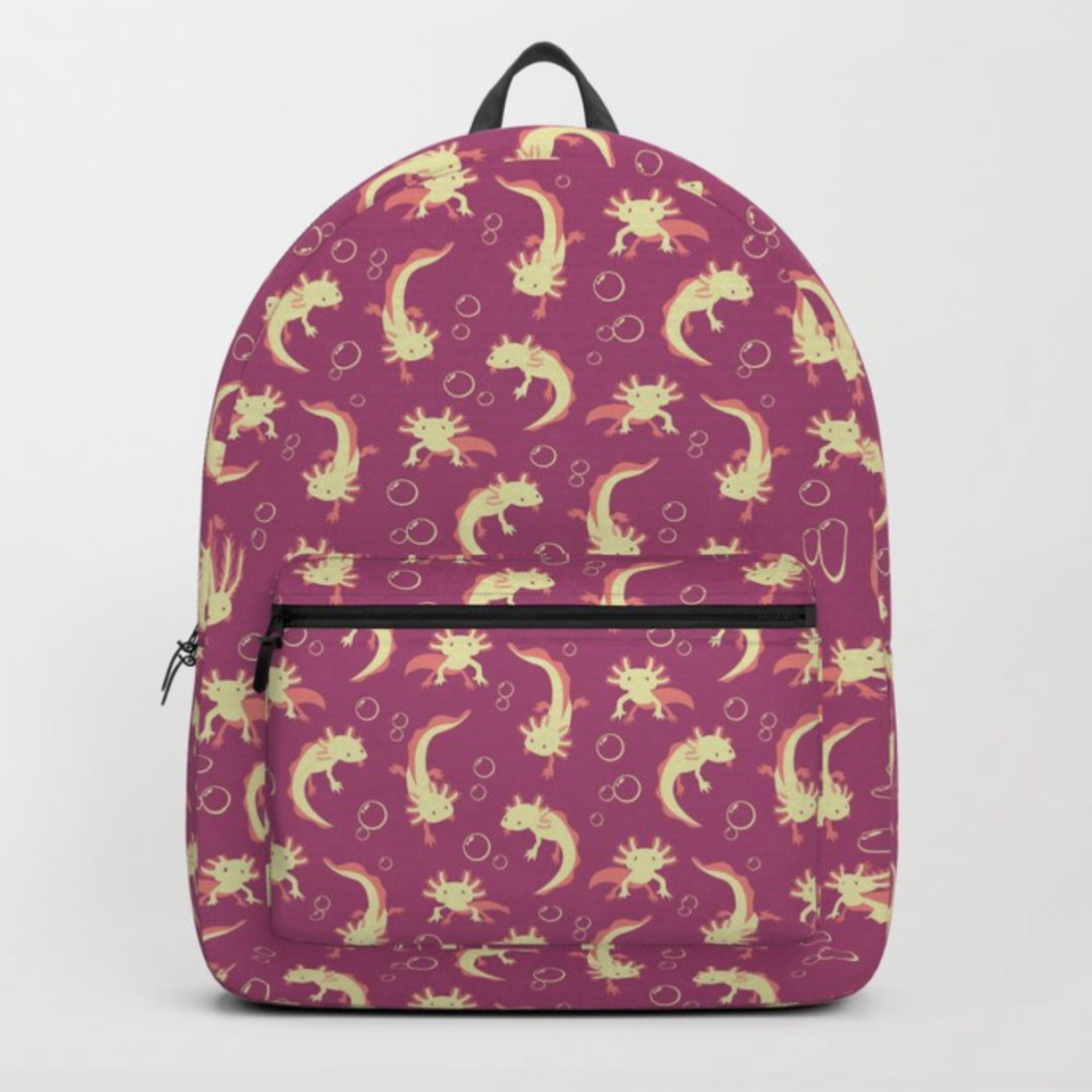 Relaxolotl rose backpack from Society6