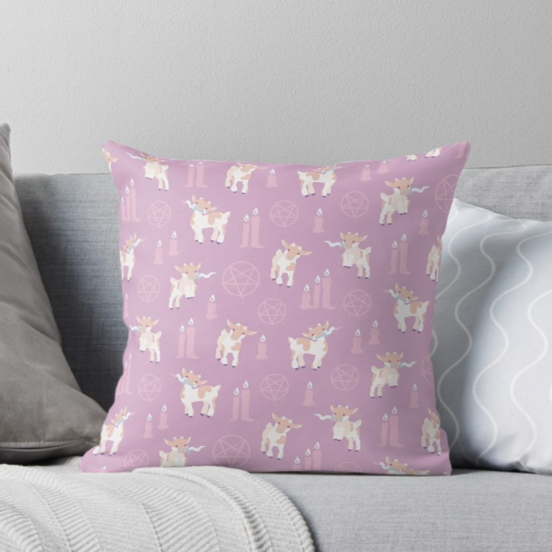 The kids are alright throw pillow from Redbubble