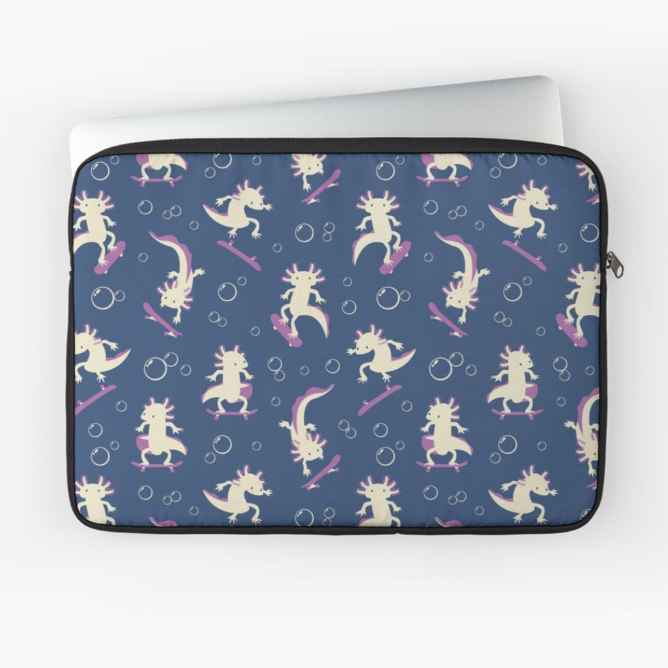 To the Maxalotl laptop cover from Society6