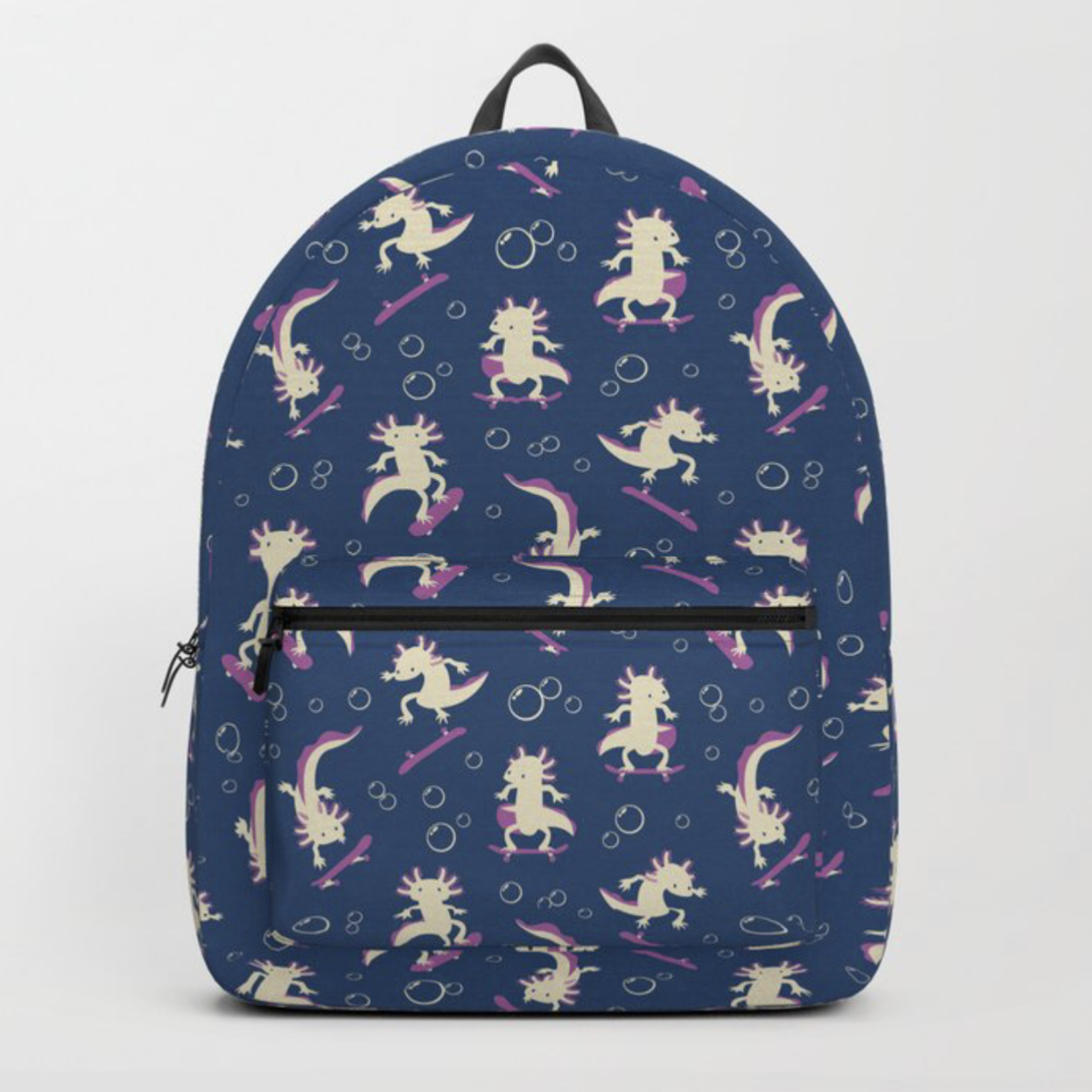 To the Maxalotl backpack from Society6