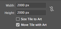 Screen shot of height and width set to 2000px