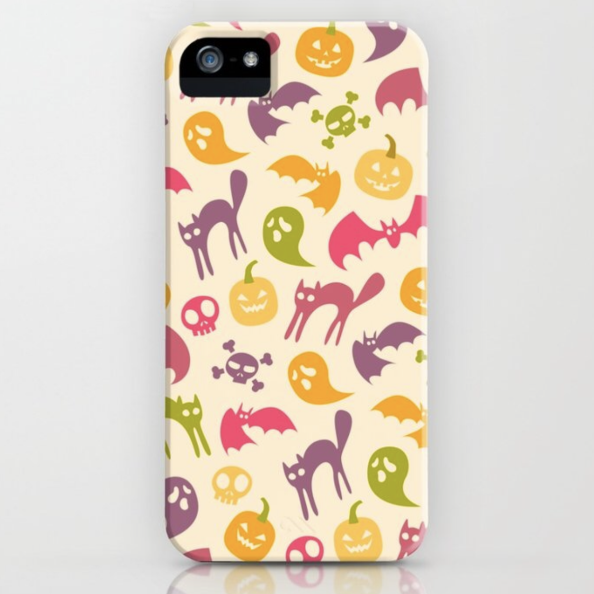 Neon Halloween Eggshell phone case
