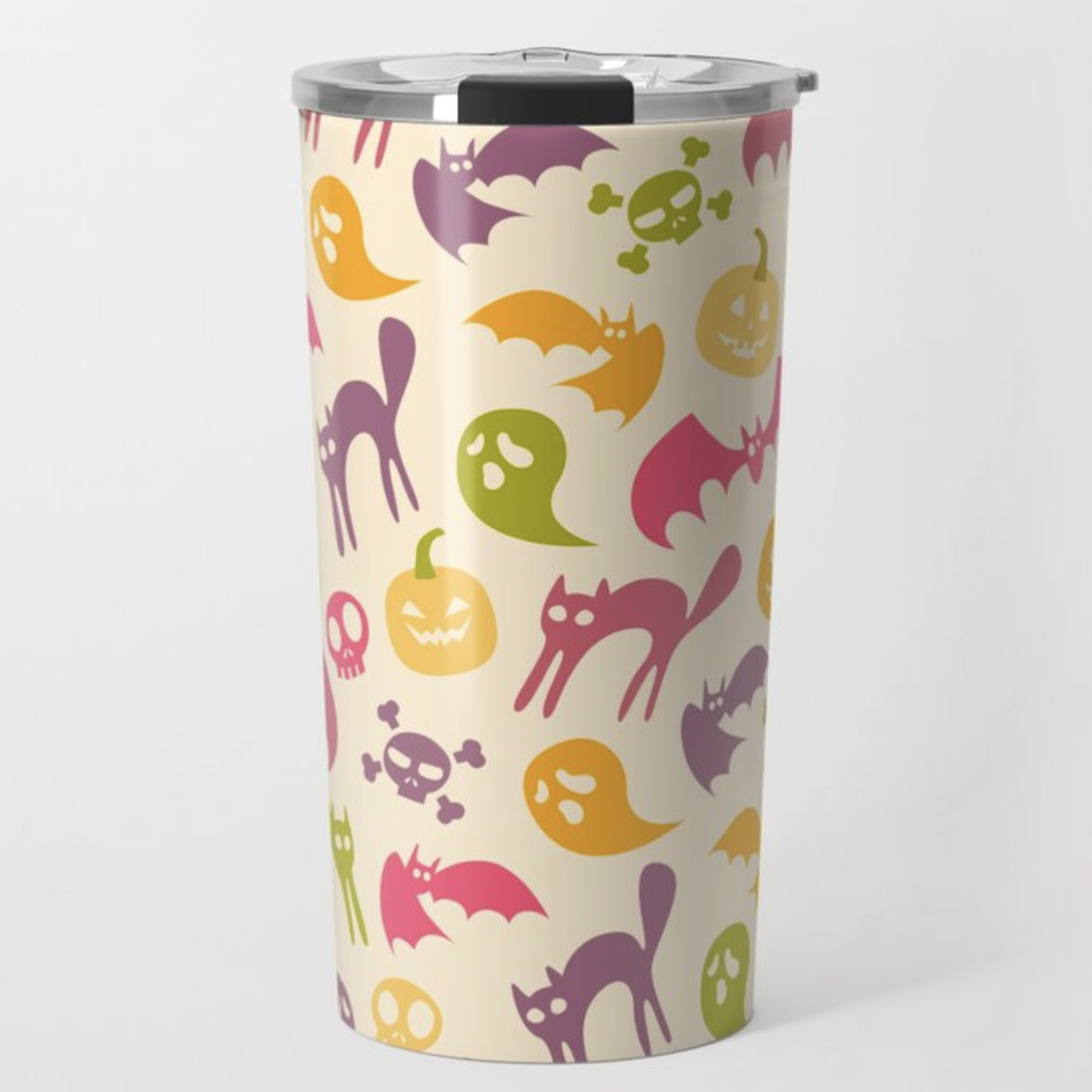Neon Halloween Eggshell travel mug