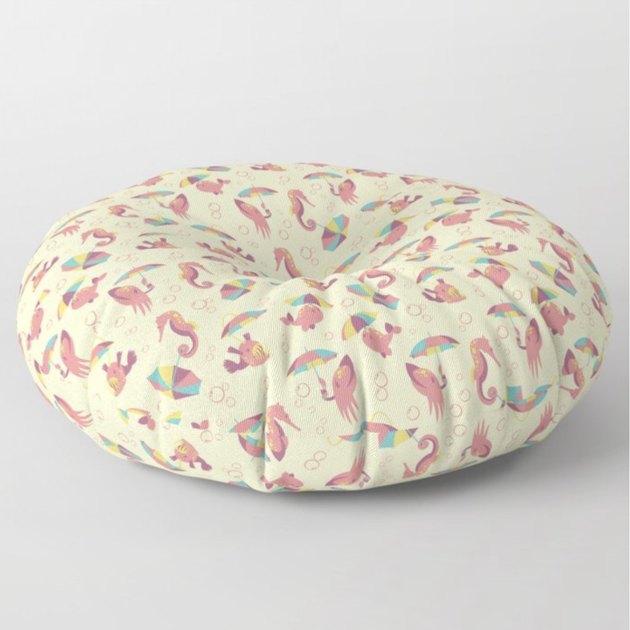 A Chance of Rain Floor Pillow from Society6