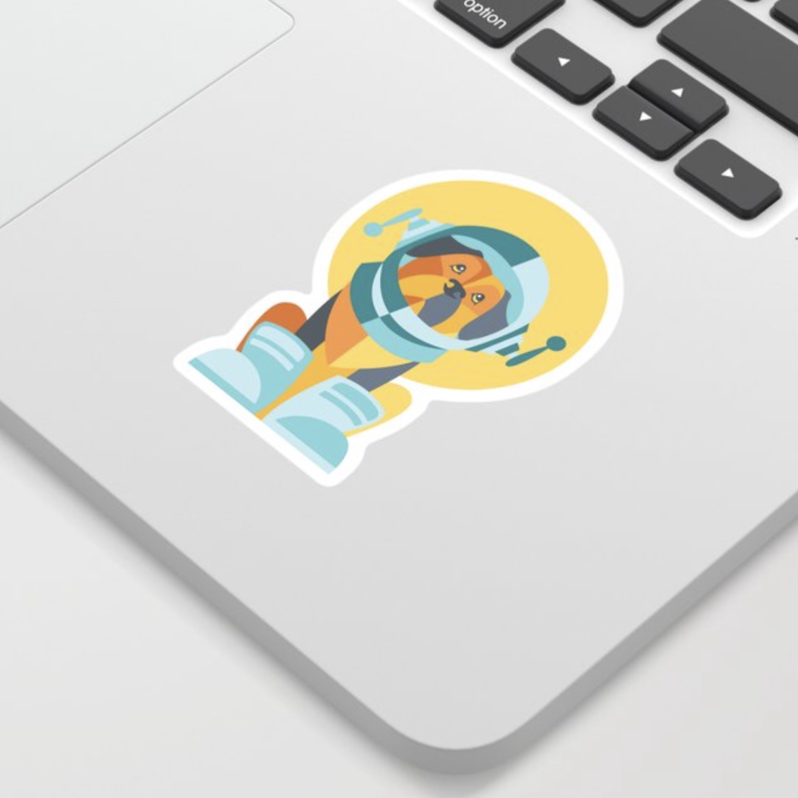One Giant Leap for All Muttkind sticker by Society6