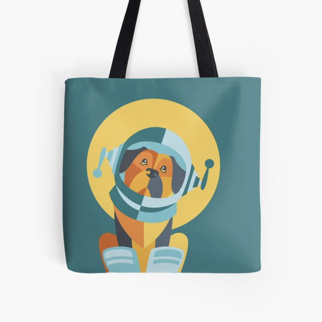 One Giant Leap for All Muttkind tote bag by Redbubble