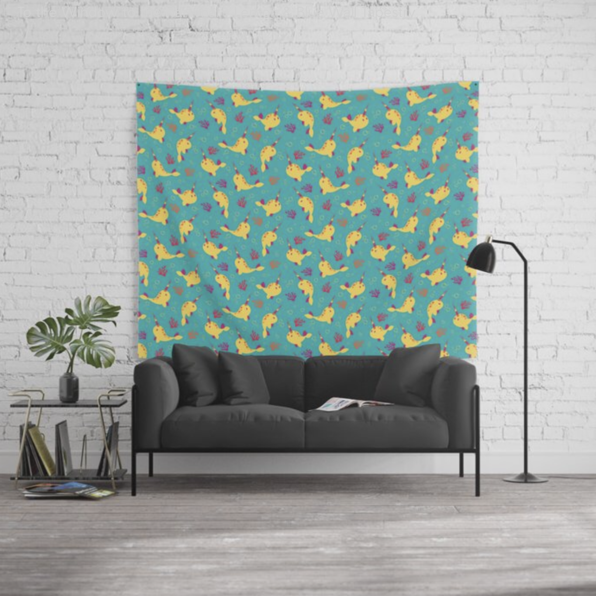 To the Window to the Narwhal tapestry from Society6