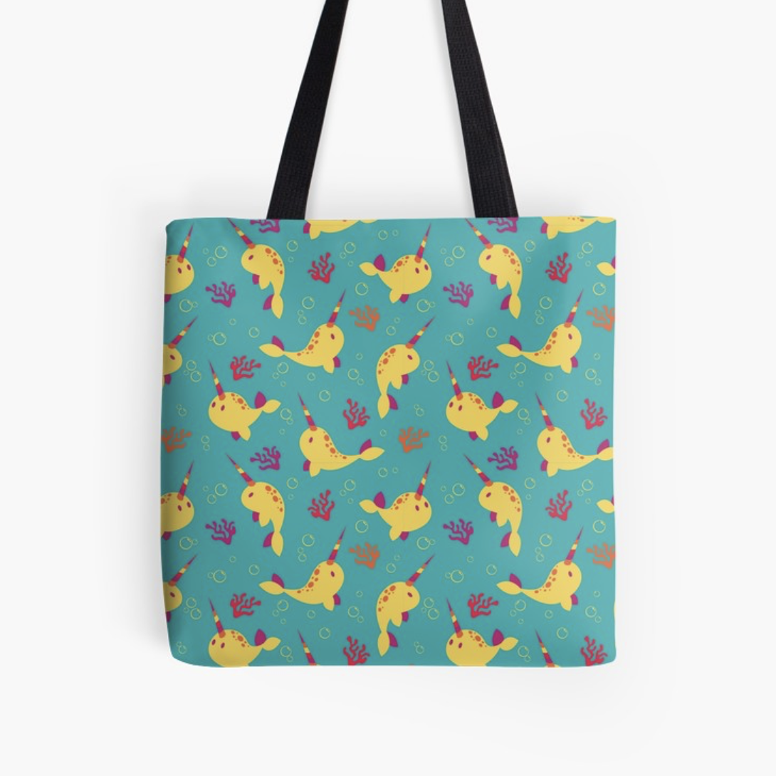 To the Window to the Narwhal tote from Redbubble