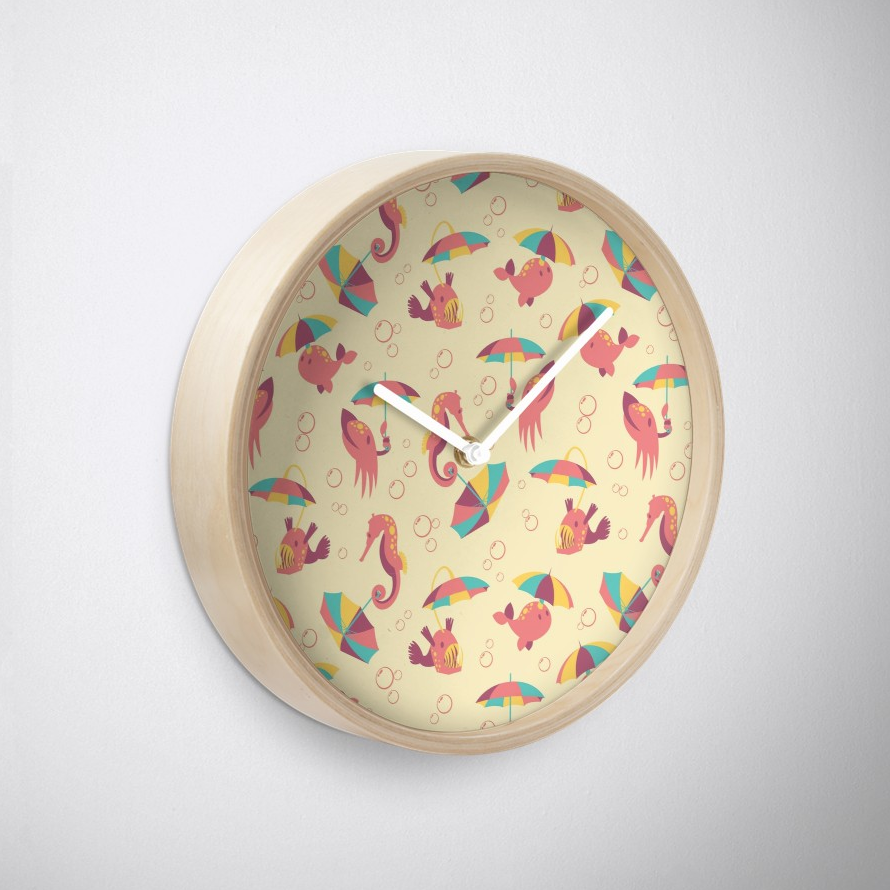 A Chance of Rain Clock from Redbubble