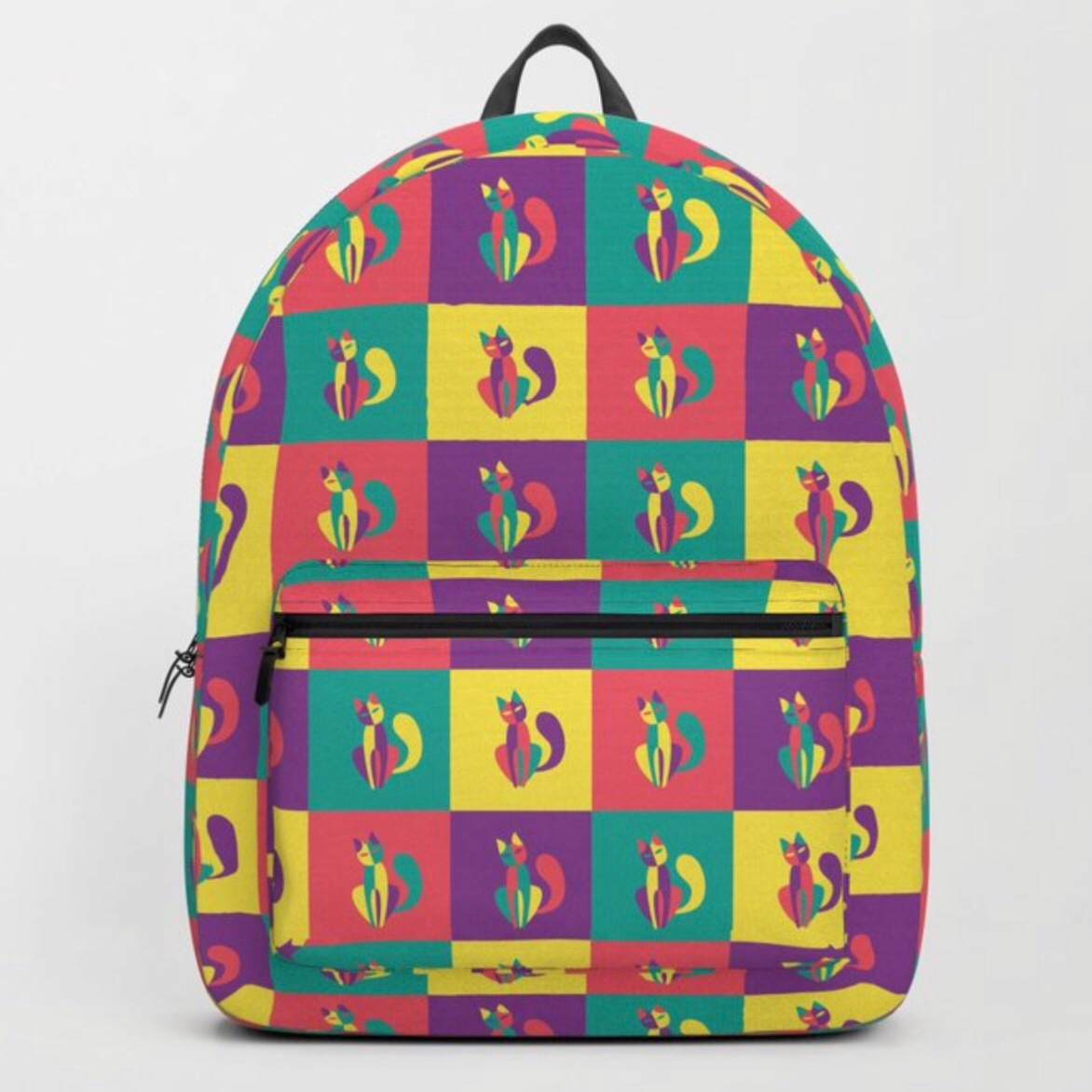Pop goes the kitten backpack at Society6