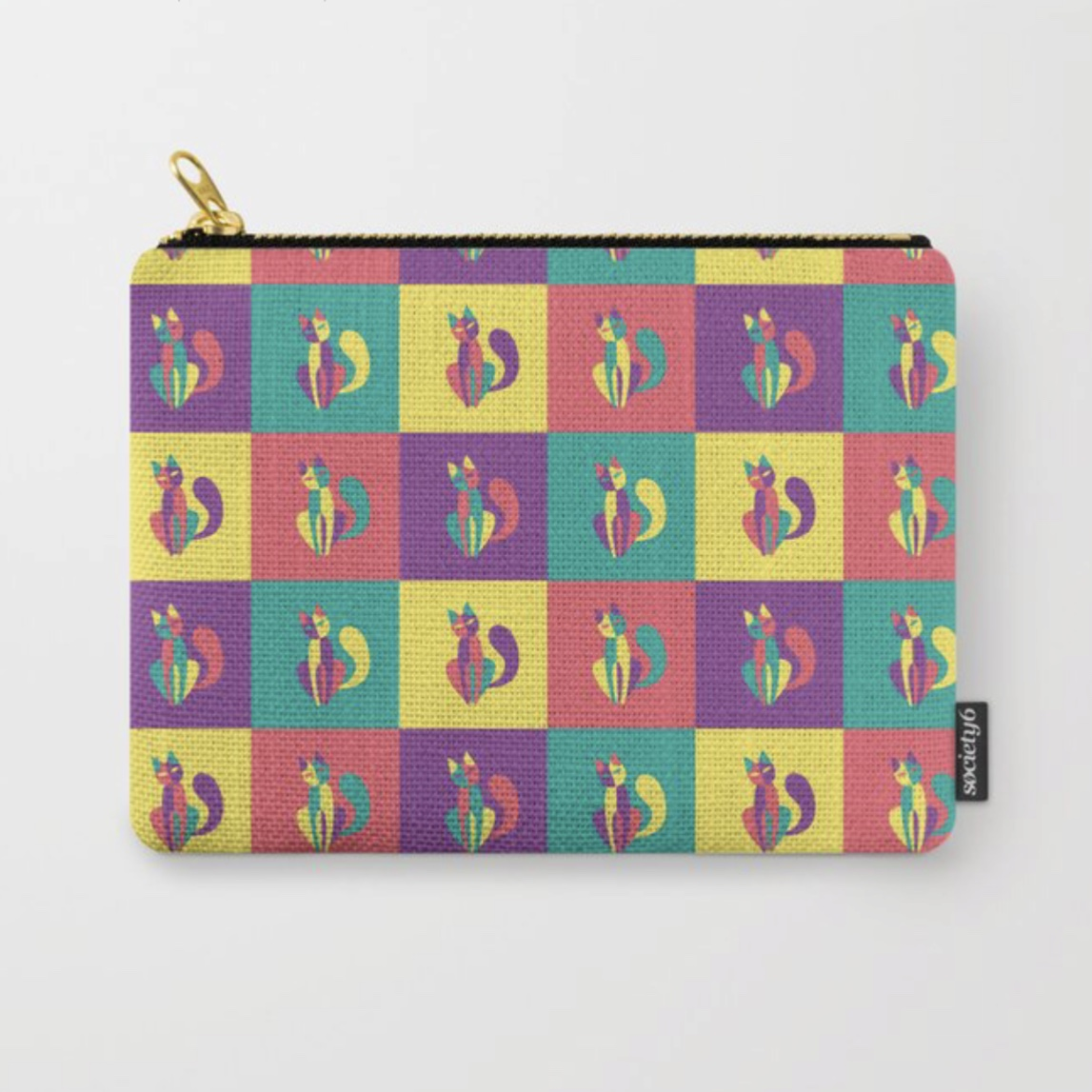 Pop goes the kitten studio pouch at Society6